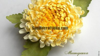 Make a chrysanthemum