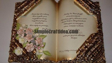 How to make a decorative book for a gift