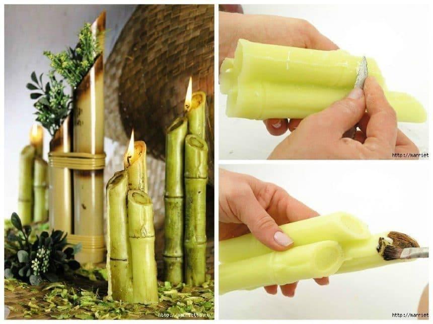 Candles bambo stalks