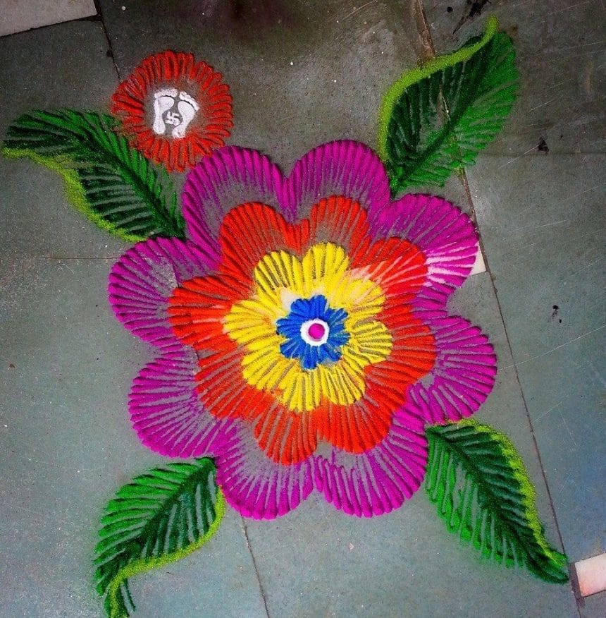 How To Make Rangoli From Finger Art Simple Craft Ideas