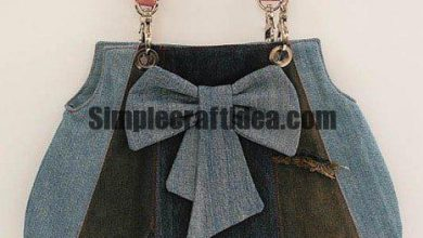 Use old jeans and sew fashionable handbag