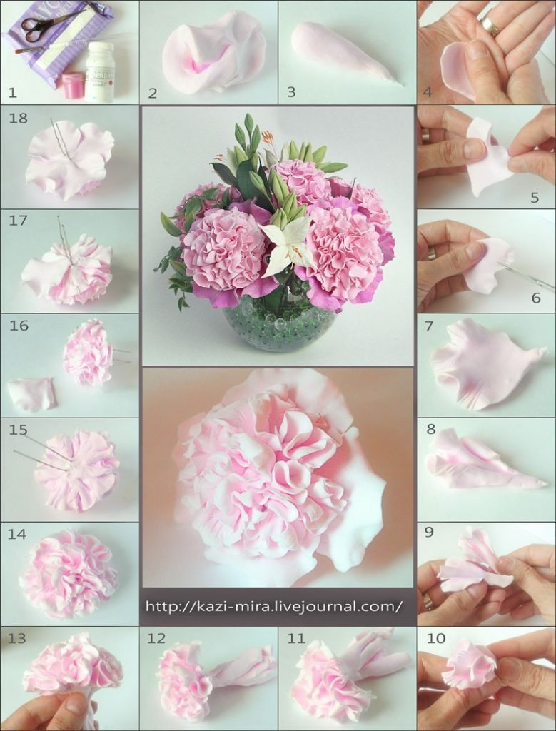 Modeling peony - Simple Craft Ideas