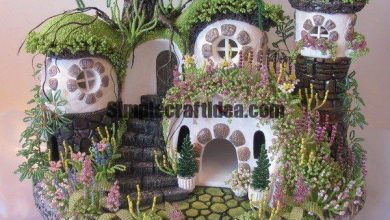 Hobbit village of beads and plaster