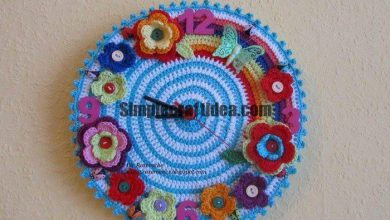 Crochet beautiful clock for comfort in the house