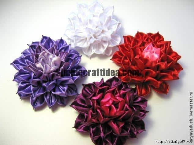 Simple craft idea ribbon flower mightylinksfo