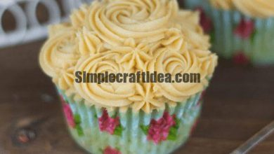 Recipe for 6 cupcakes with caramel
