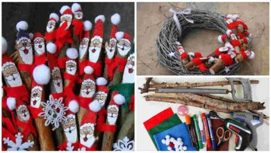 make Santa Clauses From Tree