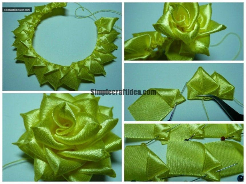 Rose flower making