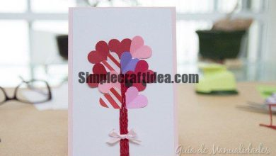Romantic valentine's day cards with hearts