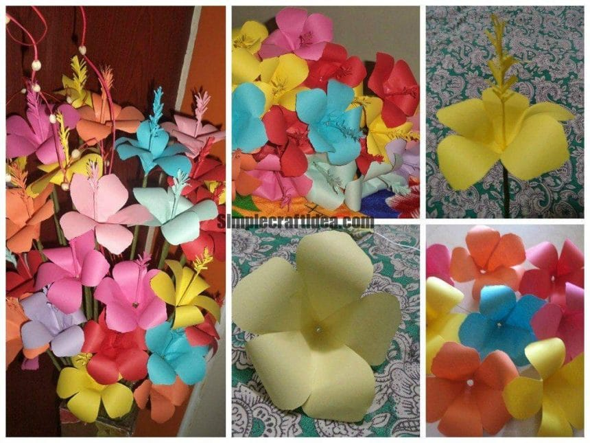 Shoe Flower Making Simple Craft Ideas