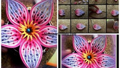 Composite element flower petal