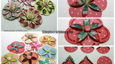 How to make paper flowers for scrap booking