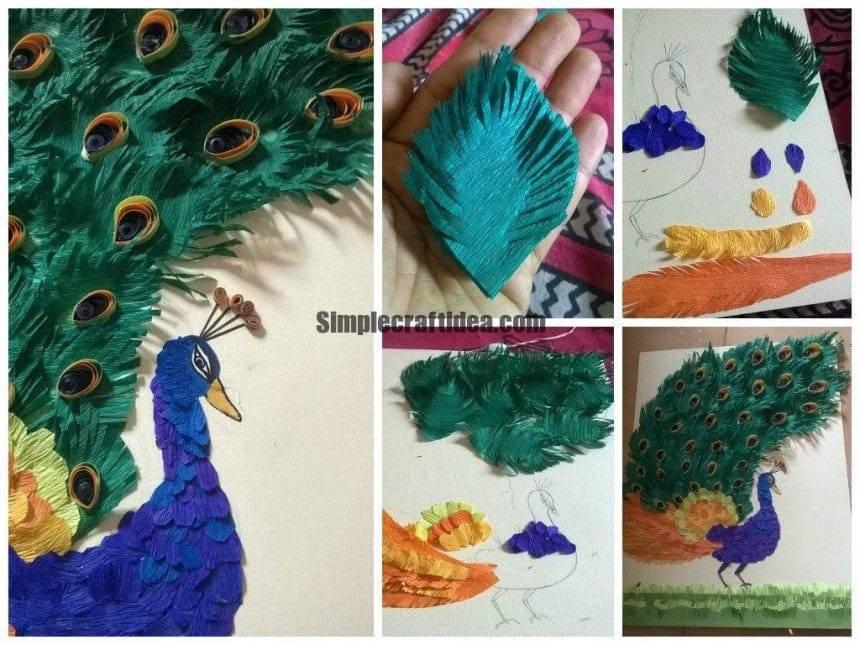 Peacock Paper Craft Simple Craft Ideas