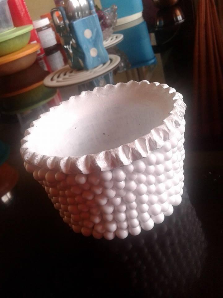 thermocol balls decorate flower vase  u2013 simple craft ideas