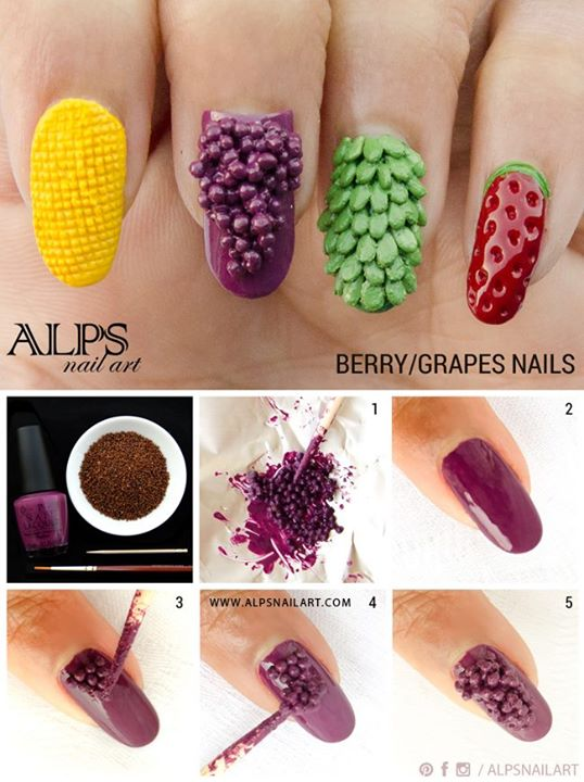 Creative fruit nails simple craft ideas next in the fruit nail art tutorial series is sweet corn nailart prinsesfo Images