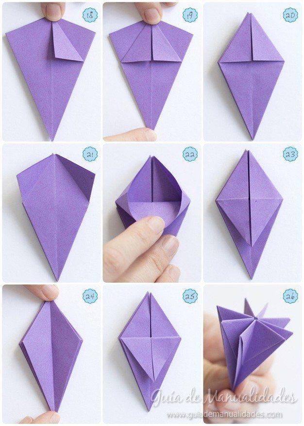 Как сделать из бумаги лилею