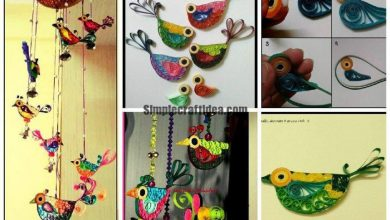 Quilled birds and made a windchime