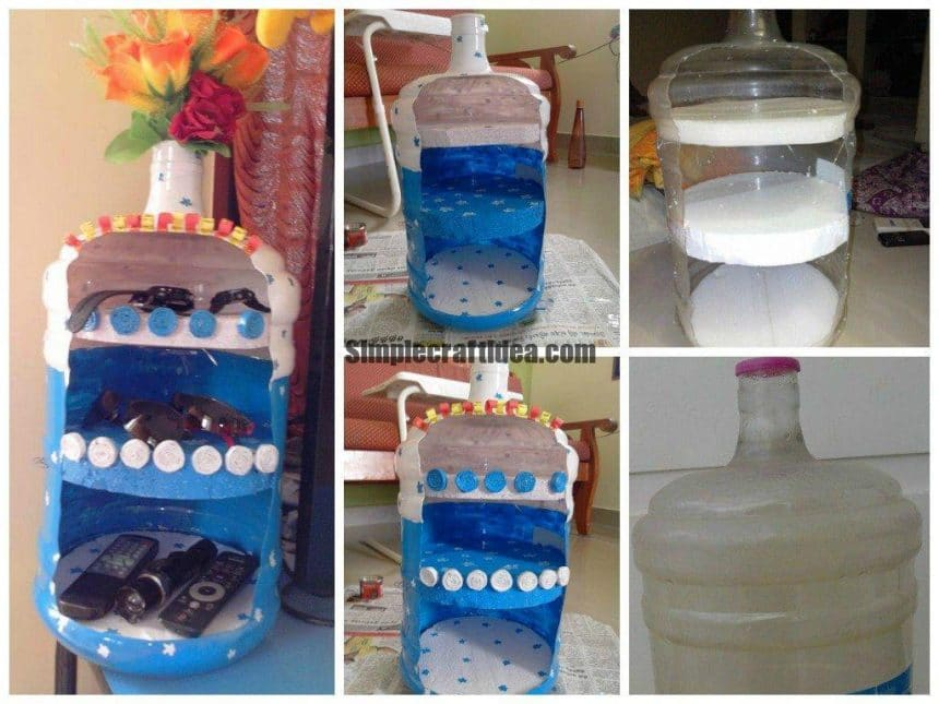 Organizer from water cans