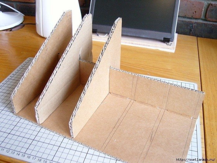 How to make a cardboard stand for a laptop Simple Craft Ideas