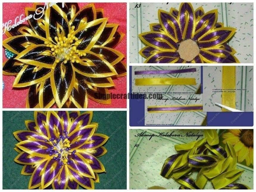 Different colour flower
