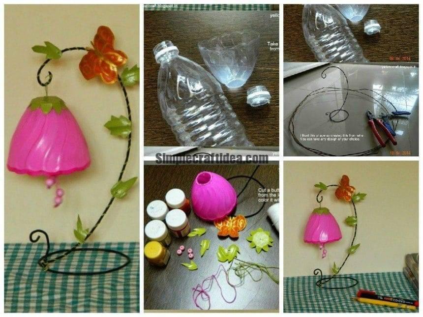 Plastic bottle table decor