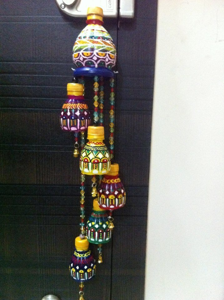 Wind chimes made out of waste plastic bottles simple for Crafts made out of waste