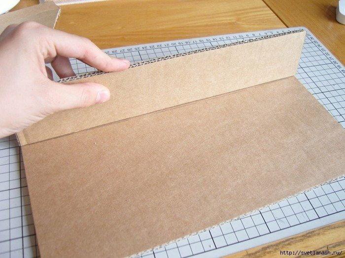 Как сделать подставку из картона для ноутбука