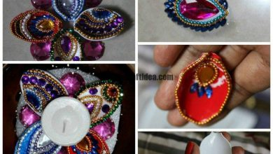Spoon creation diya stand