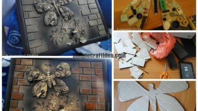 Decorative painting with butterfly