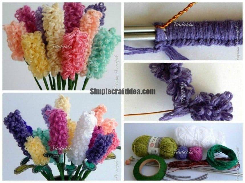 Yarn hyacinths