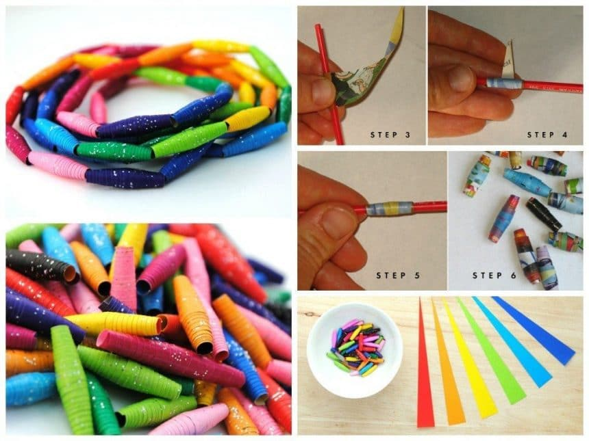 Beads made of paper