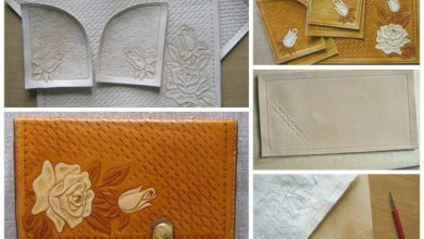Embossed leather and hand-assembled products