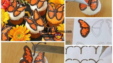 Chocolate butterfly decorations