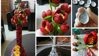 Paper tubes flower bunch pictorial