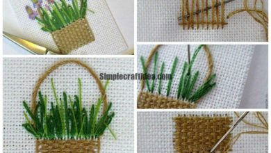 How to sew a basket of irises