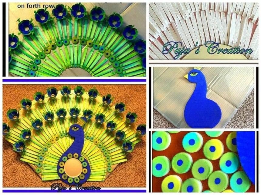Peacock wall décor