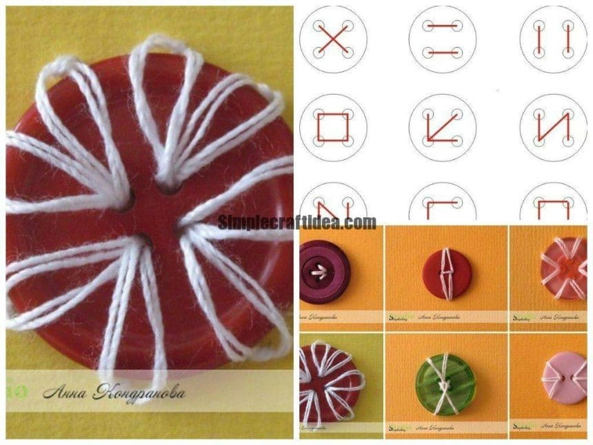 How to sew a button beautifully