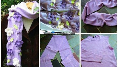 How to sew a scarf of an old turtleneck