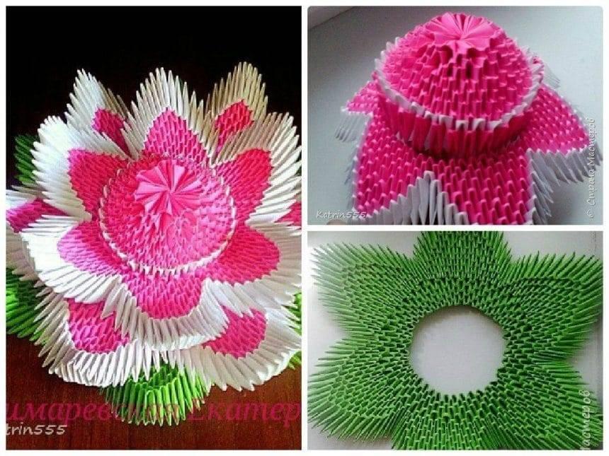 Modular origami lotus simple craft ideas modular origami lotus mightylinksfo