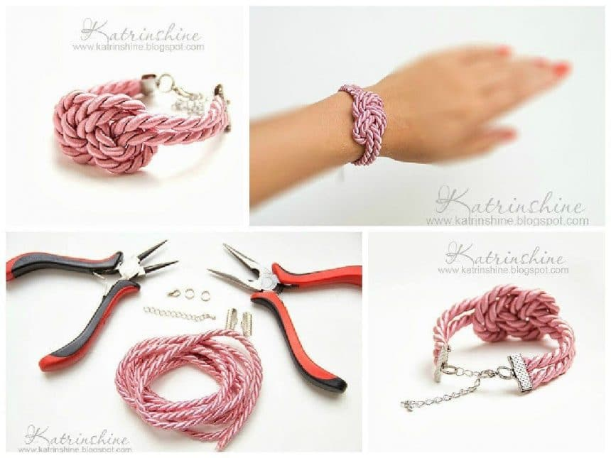 How to make a wonderful knotted bracelet