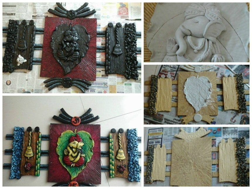 Mural art simple craft ideas for Clay mural making