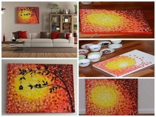 Love birds - Acrylics on canvas