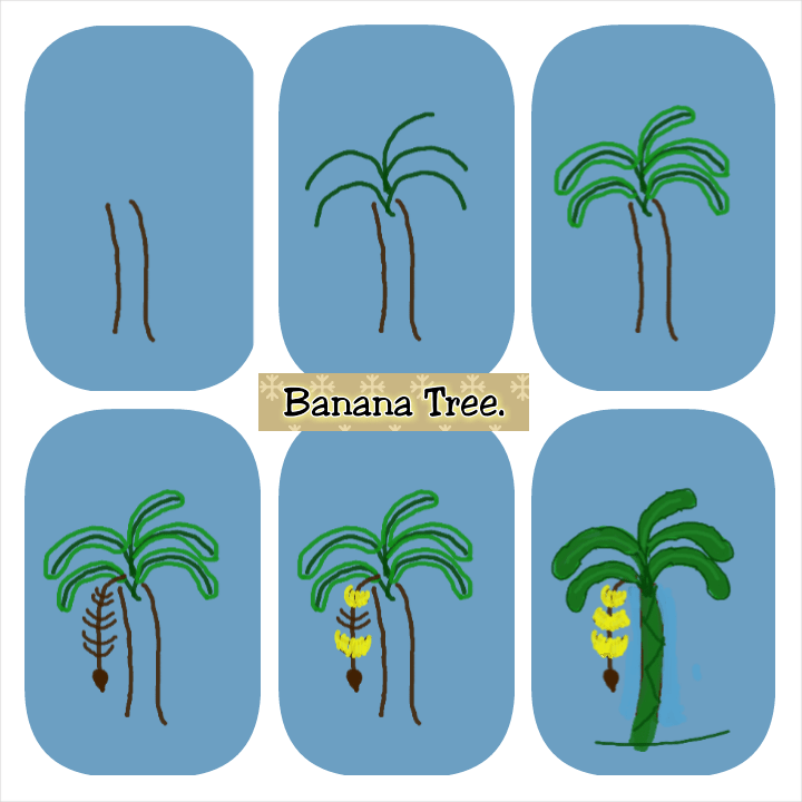 Easy Drawing Plants And Trees
