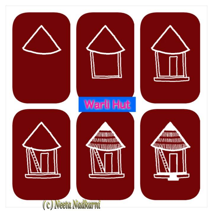 Easy warli paintings - Simple Craft Ideas
