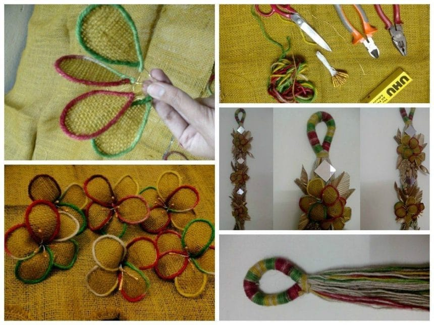 How To Make A Wall Hanging By Jute Simple Craft Ideas