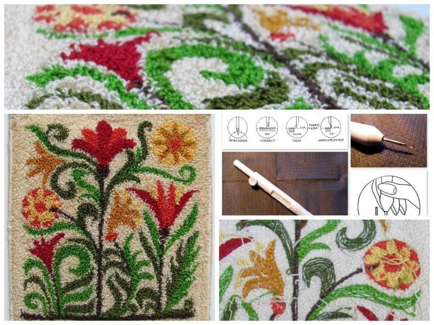 Punch Needle Embroidery Rug Simple Craft Ideas