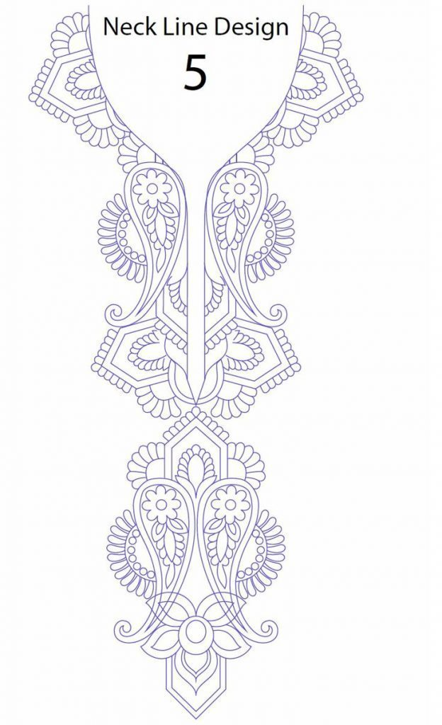Hand embroidery designs for kurtis neck – Simple Craft Ideas