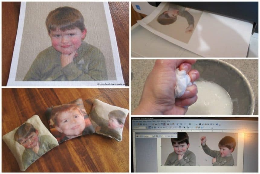 Transfer the image onto the fabric