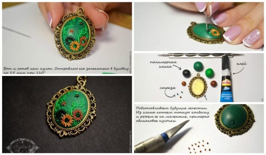 Manufacture of the pendant in the technique of filigree