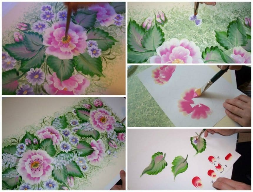 A process of painting is very fast
